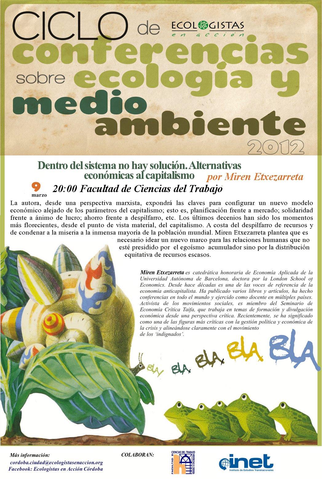 Cartel de la conferencia de Miren Etxezarreta