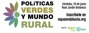 Banner Jornada Politicas Verdes y mundo rural