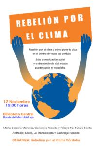 Charla-debate Rebelión por el clima Córdoba