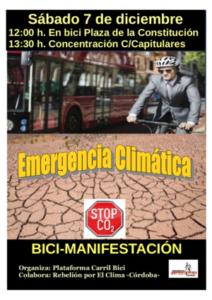 """Bicifestación """"Emergencia climática"""" @ Plaza de la constitución"""