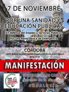 Manifestación - Por una sanidad y educación públicas @ Bulevar del Gran Capitán