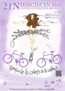 Marcha en en bici contra la violencia machista